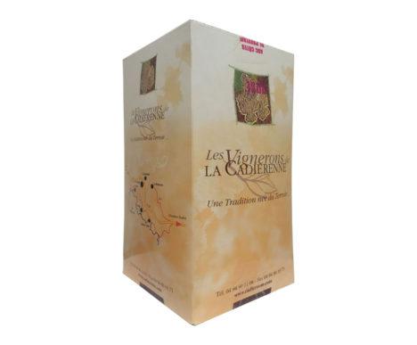 bag in box cotes de provence rosé la cadierenne