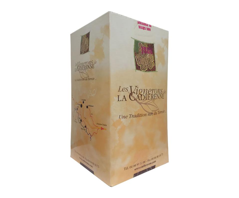 AOP Côtes de Provence Vin Rouge BIB La Cadiérenne