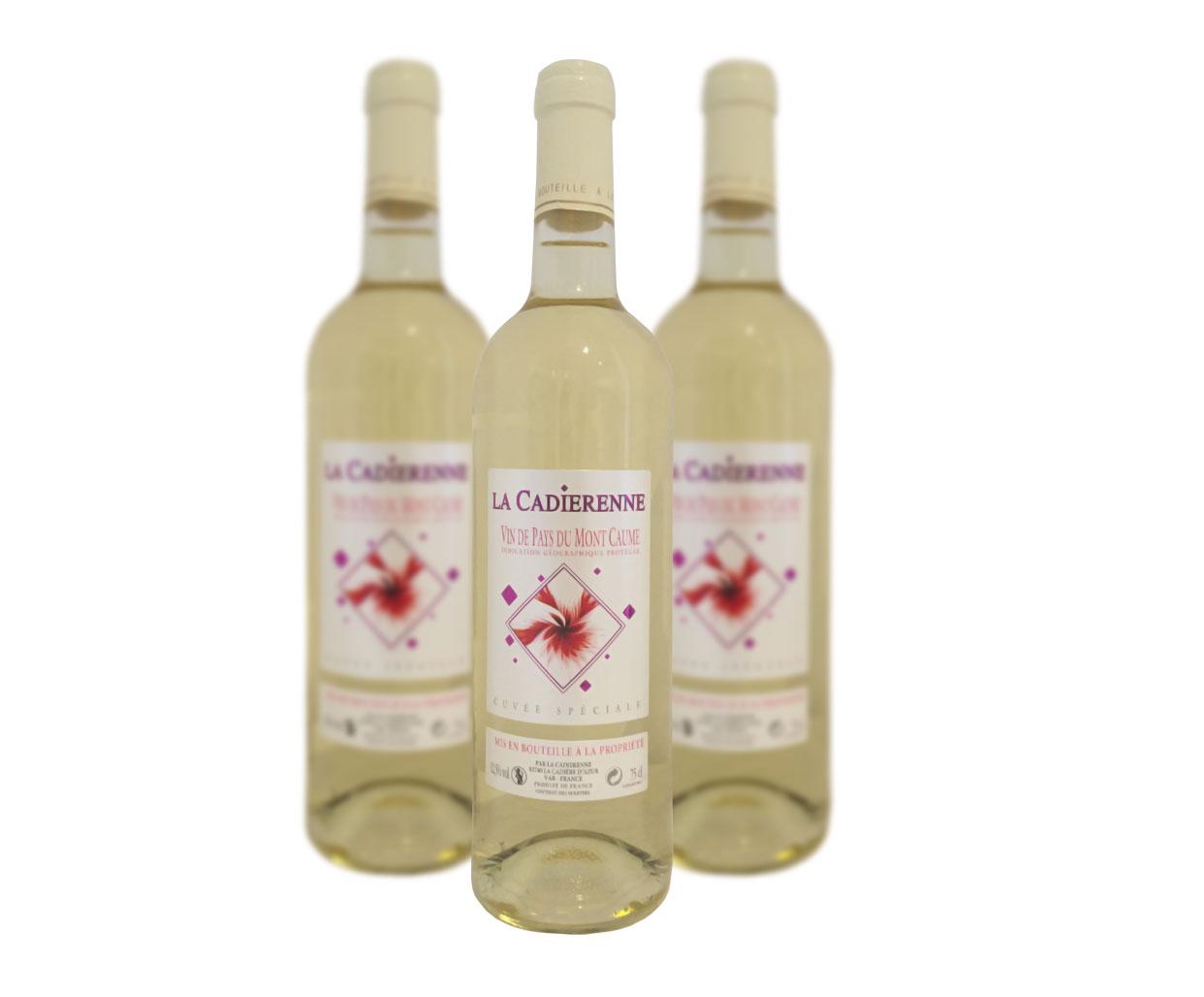 Vin de pays Mont Caume Blanc La Cadiérenne