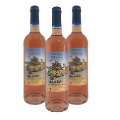 vin de pays de méditerranée rosé