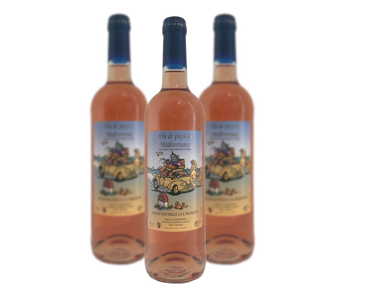 IGP Vin de Méditerranée Rosé La Cadiérenne